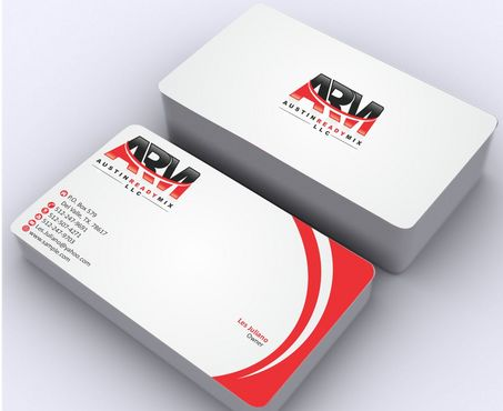 Austin Ready Mix, LLC Business Cards and Stationery  Draft # 118 by Deck86