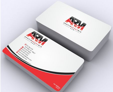 Austin Ready Mix, LLC Business Cards and Stationery  Draft # 122 by Deck86