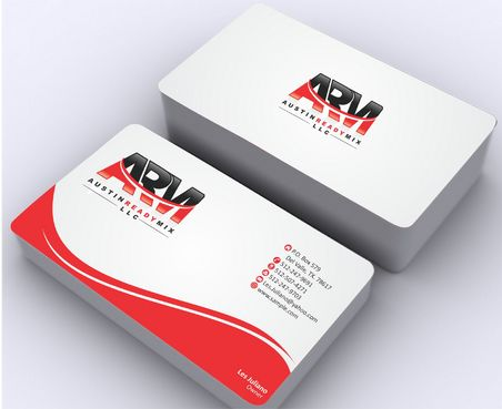 Austin Ready Mix, LLC Business Cards and Stationery  Draft # 123 by Deck86