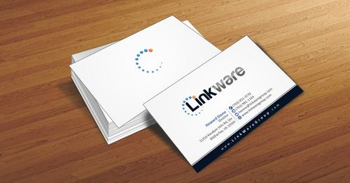 Linkware, LLC Business Cards and Stationery  Draft # 85 by Deck86