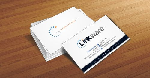 Linkware, LLC Business Cards and Stationery  Draft # 89 by Deck86
