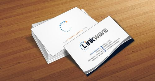 Linkware, LLC Business Cards and Stationery  Draft # 92 by Deck86