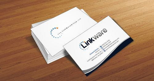 Linkware, LLC Business Cards and Stationery  Draft # 91 by Deck86