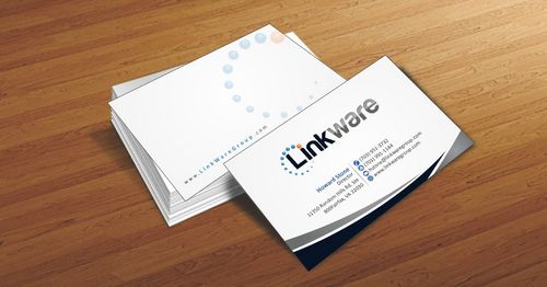 Linkware, LLC Business Cards and Stationery  Draft # 93 by Deck86