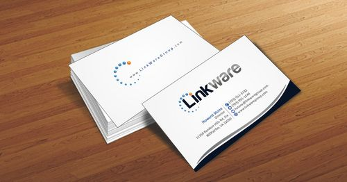 Linkware, LLC Business Cards and Stationery  Draft # 94 by Deck86