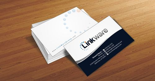 Linkware, LLC Business Cards and Stationery  Draft # 95 by Deck86