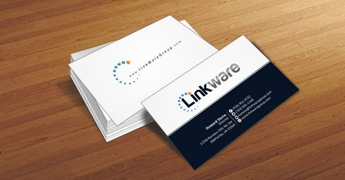 Linkware, LLC Business Cards and Stationery  Draft # 96 by Deck86