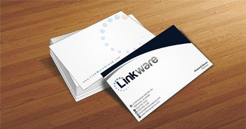 Linkware, LLC Business Cards and Stationery  Draft # 98 by Deck86