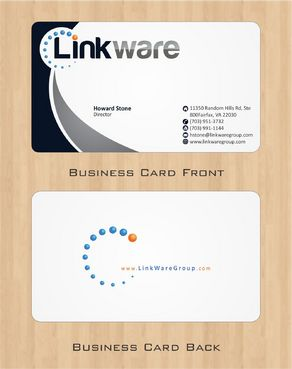 Linkware, LLC Business Cards and Stationery  Draft # 105 by Deck86
