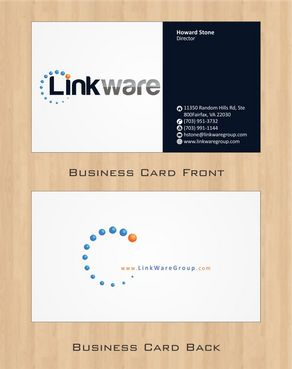 Linkware, LLC Business Cards and Stationery  Draft # 110 by Deck86