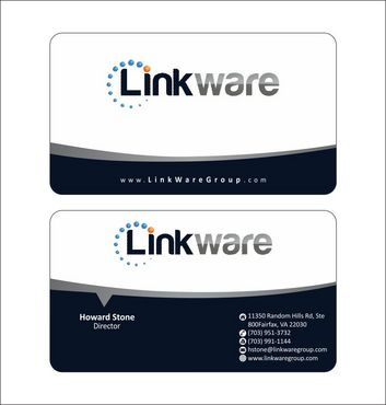 Linkware, LLC Business Cards and Stationery  Draft # 120 by Deck86