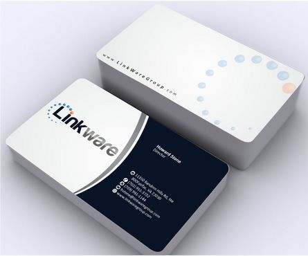 Linkware, LLC Business Cards and Stationery  Draft # 124 by Deck86