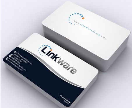 Linkware, LLC Business Cards and Stationery  Draft # 129 by Deck86