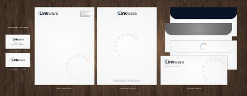 Linkware, LLC Business Cards and Stationery  Draft # 138 by Deck86