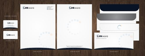 Linkware, LLC Business Cards and Stationery  Draft # 140 by Deck86