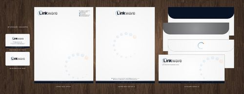 Linkware, LLC Business Cards and Stationery  Draft # 139 by Deck86