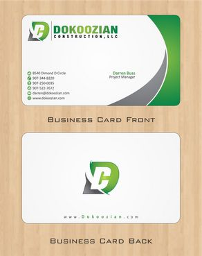 Dokoozian Construction, LLC. Business Cards and Stationery  Draft # 86 by Deck86
