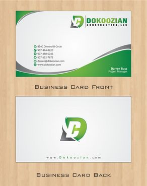 Dokoozian Construction, LLC. Business Cards and Stationery  Draft # 94 by Deck86