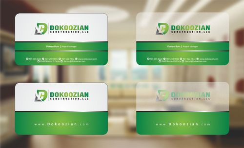Dokoozian Construction, LLC. Business Cards and Stationery  Draft # 96 by Deck86