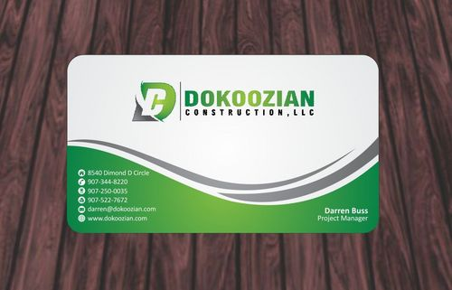 Dokoozian Construction, LLC. Business Cards and Stationery  Draft # 98 by Deck86