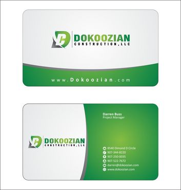 Dokoozian Construction, LLC. Business Cards and Stationery  Draft # 99 by Deck86