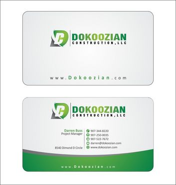 Dokoozian Construction, LLC. Business Cards and Stationery  Draft # 100 by Deck86