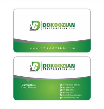 Dokoozian Construction, LLC. Business Cards and Stationery  Draft # 101 by Deck86