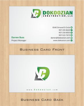 Dokoozian Construction, LLC. Business Cards and Stationery  Draft # 102 by Deck86