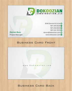 Dokoozian Construction, LLC. Business Cards and Stationery  Draft # 103 by Deck86