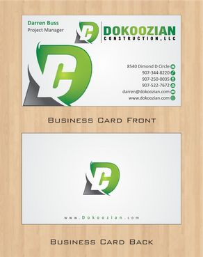 Dokoozian Construction, LLC. Business Cards and Stationery  Draft # 104 by Deck86