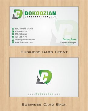 Dokoozian Construction, LLC. Business Cards and Stationery  Draft # 106 by Deck86