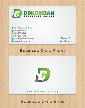 Dokoozian Construction, LLC. Business Cards and Stationery  Draft # 105 by Deck86