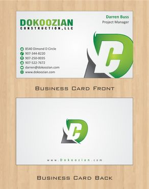Dokoozian Construction, LLC. Business Cards and Stationery  Draft # 107 by Deck86