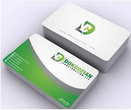 Dokoozian Construction, LLC. Business Cards and Stationery  Draft # 108 by Deck86
