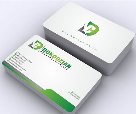 Dokoozian Construction, LLC. Business Cards and Stationery  Draft # 110 by Deck86