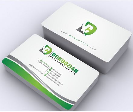 Dokoozian Construction, LLC. Business Cards and Stationery  Draft # 112 by Deck86