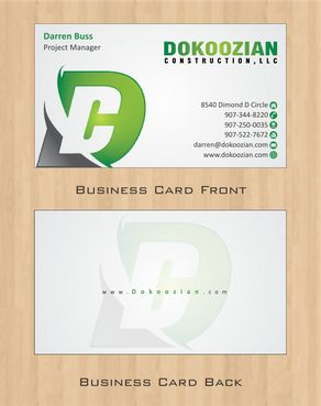 Dokoozian Construction, LLC. Business Cards and Stationery  Draft # 115 by Deck86
