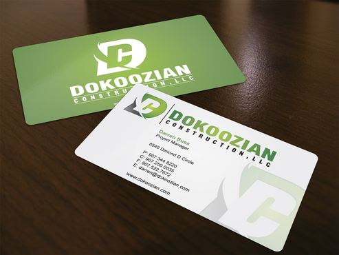 Dokoozian Construction, LLC. Business Cards and Stationery  Draft # 120 by i3designer