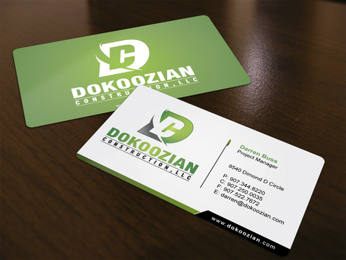 Dokoozian Construction, LLC. Business Cards and Stationery  Draft # 121 by i3designer