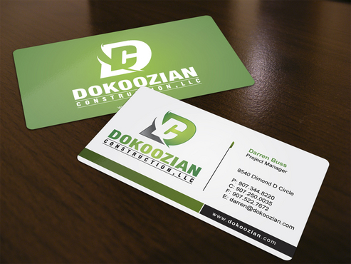 Dokoozian Construction, LLC. Business Cards and Stationery  Draft # 122 by i3designer