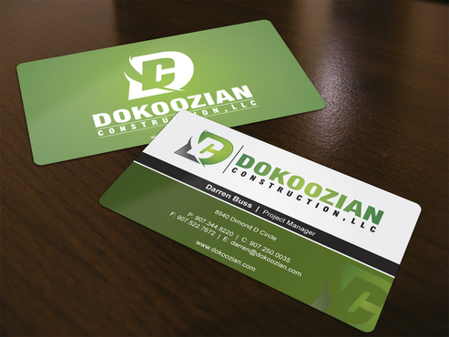 Dokoozian Construction, LLC. Business Cards and Stationery  Draft # 123 by i3designer
