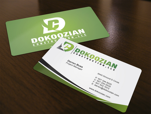 Dokoozian Construction, LLC. Business Cards and Stationery  Draft # 124 by i3designer