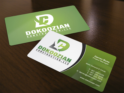 Dokoozian Construction, LLC. Business Cards and Stationery  Draft # 125 by i3designer