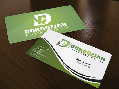 Dokoozian Construction, LLC. Business Cards and Stationery  Draft # 126 by i3designer