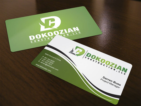 Dokoozian Construction, LLC. Business Cards and Stationery  Draft # 127 by i3designer