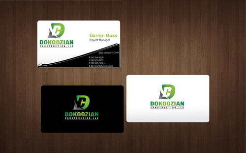Dokoozian Construction, LLC. Business Cards and Stationery  Draft # 131 by SkyBlue