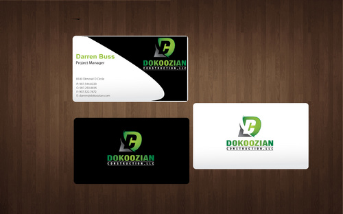 Dokoozian Construction, LLC. Business Cards and Stationery  Draft # 132 by SkyBlue