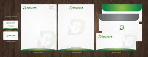 Dokoozian Construction, LLC. Business Cards and Stationery  Draft # 138 by Deck86