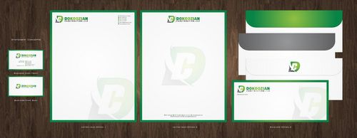 Dokoozian Construction, LLC. Business Cards and Stationery  Draft # 140 by Deck86