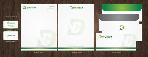 Dokoozian Construction, LLC. Business Cards and Stationery  Draft # 141 by Deck86